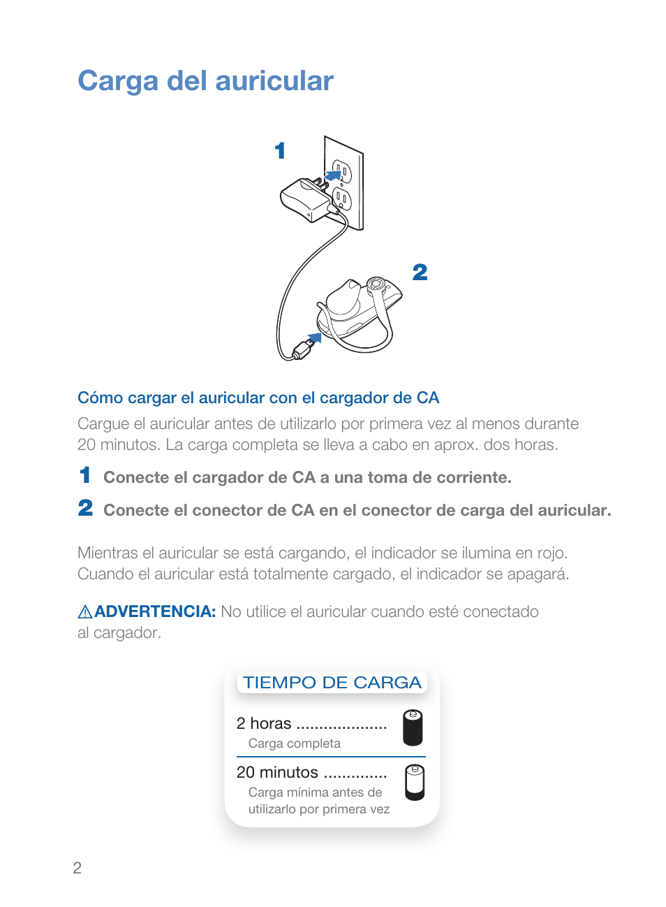 carga del auricular plantronics explorer 230 manual del usuario rh pdfmanuales com plantronics explorer 230 user manual Manual Panasonic Radio