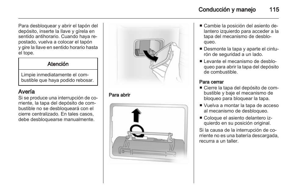 aver a para abrir para cerrar opel vivaro manual del usuario rh pdfmanuales com Opel Vivaro 9 Passenger Opel Vivaro Space