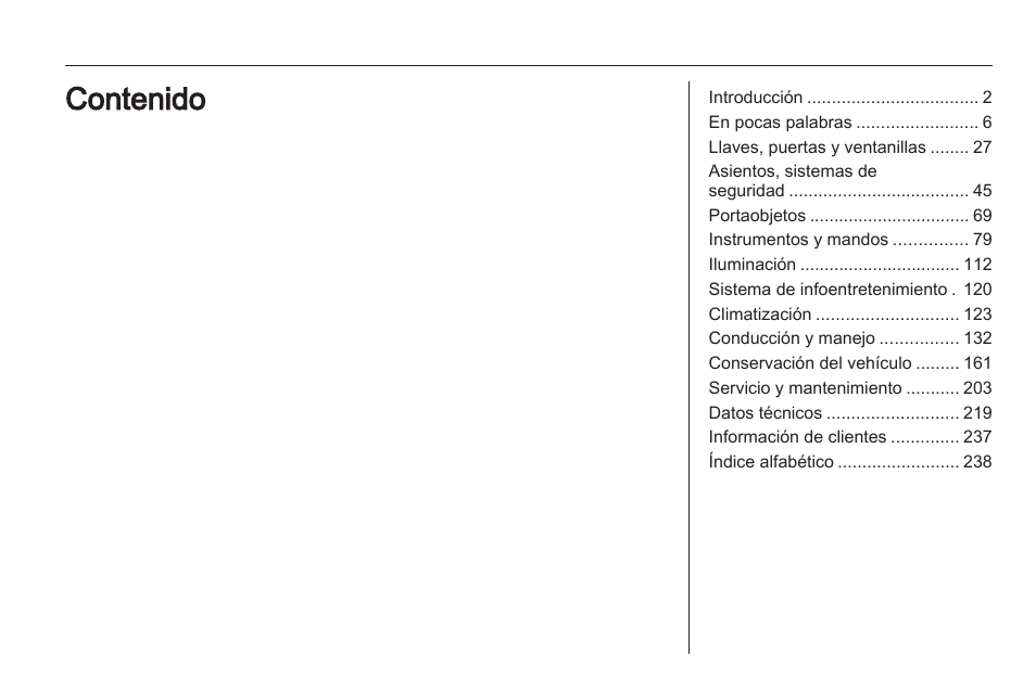Opel Zafira Manual Del Usuario Pginas 242