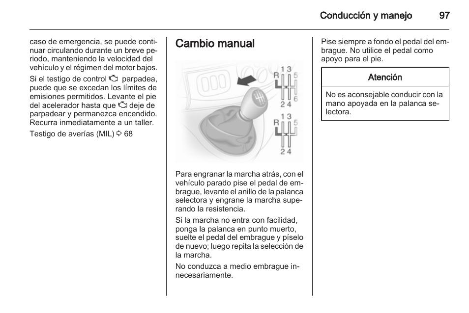 cambio manual cambio manual automatizado opel vivaro manual del rh pdfmanuales com Opel Vivaro Interior manual instrucciones opel vivaro