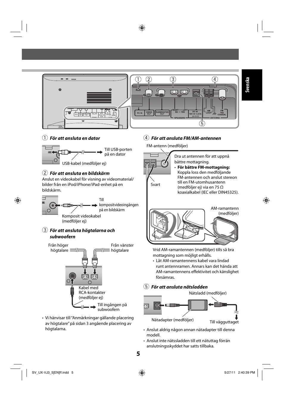 jvc ux vj5 manual