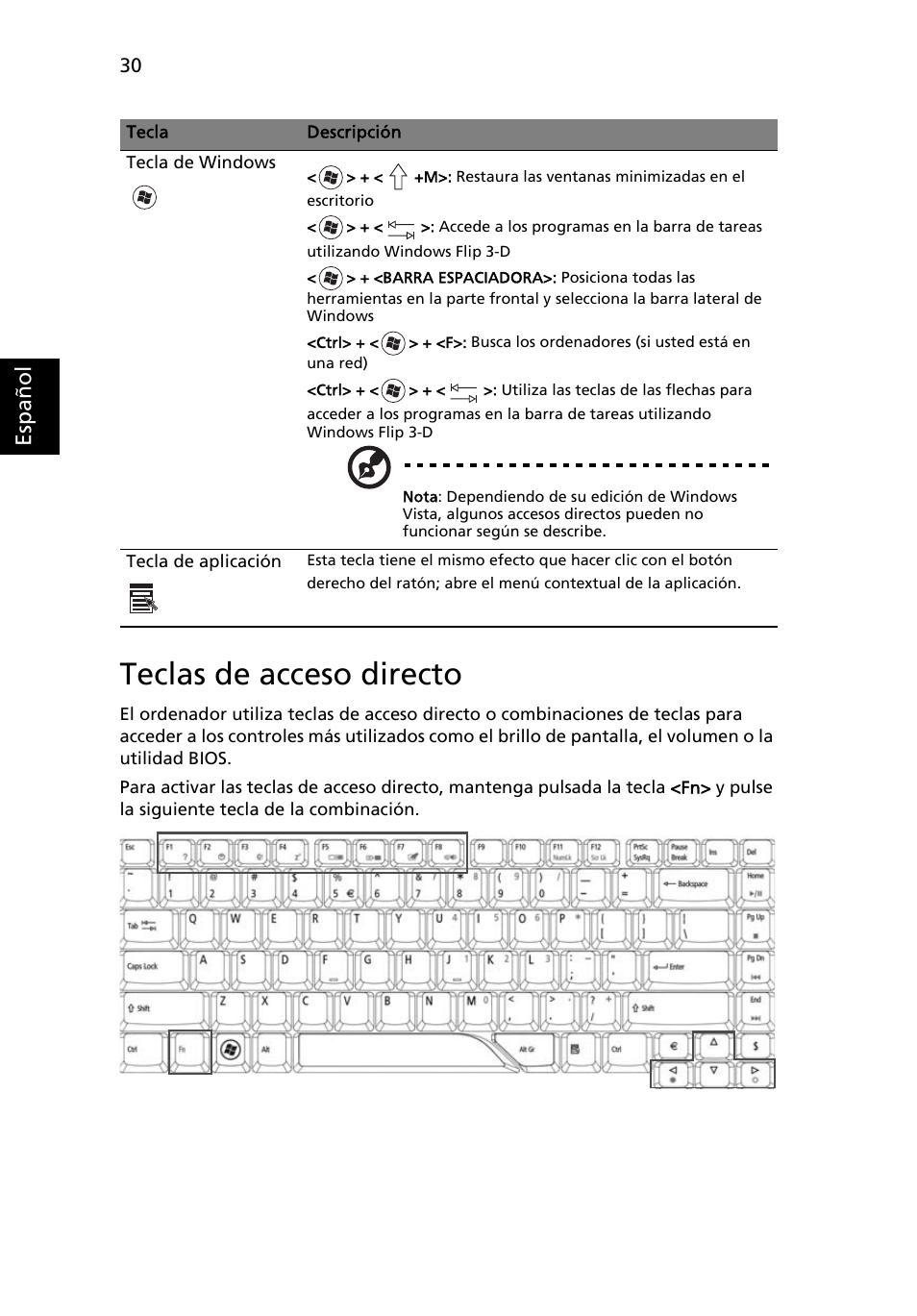 teclas de acceso directo esp a ol acer aspire 5715z manual del rh pdfmanuales com acer aspire 5715z manual pdf acer aspire 5715z service manual pdf