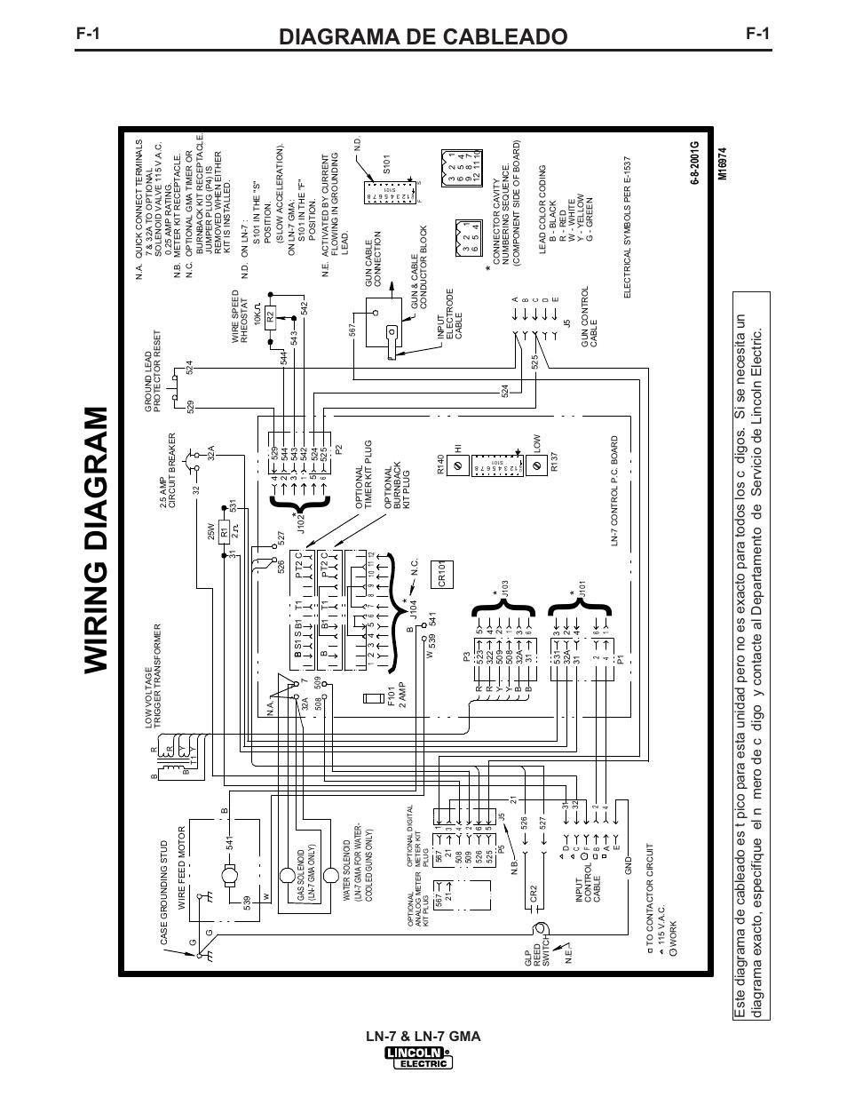 Lincoln Ln 7 Wiring Diagram Schematic Diagrams Amp 2000 Ls Diagrama De Cableado Gma