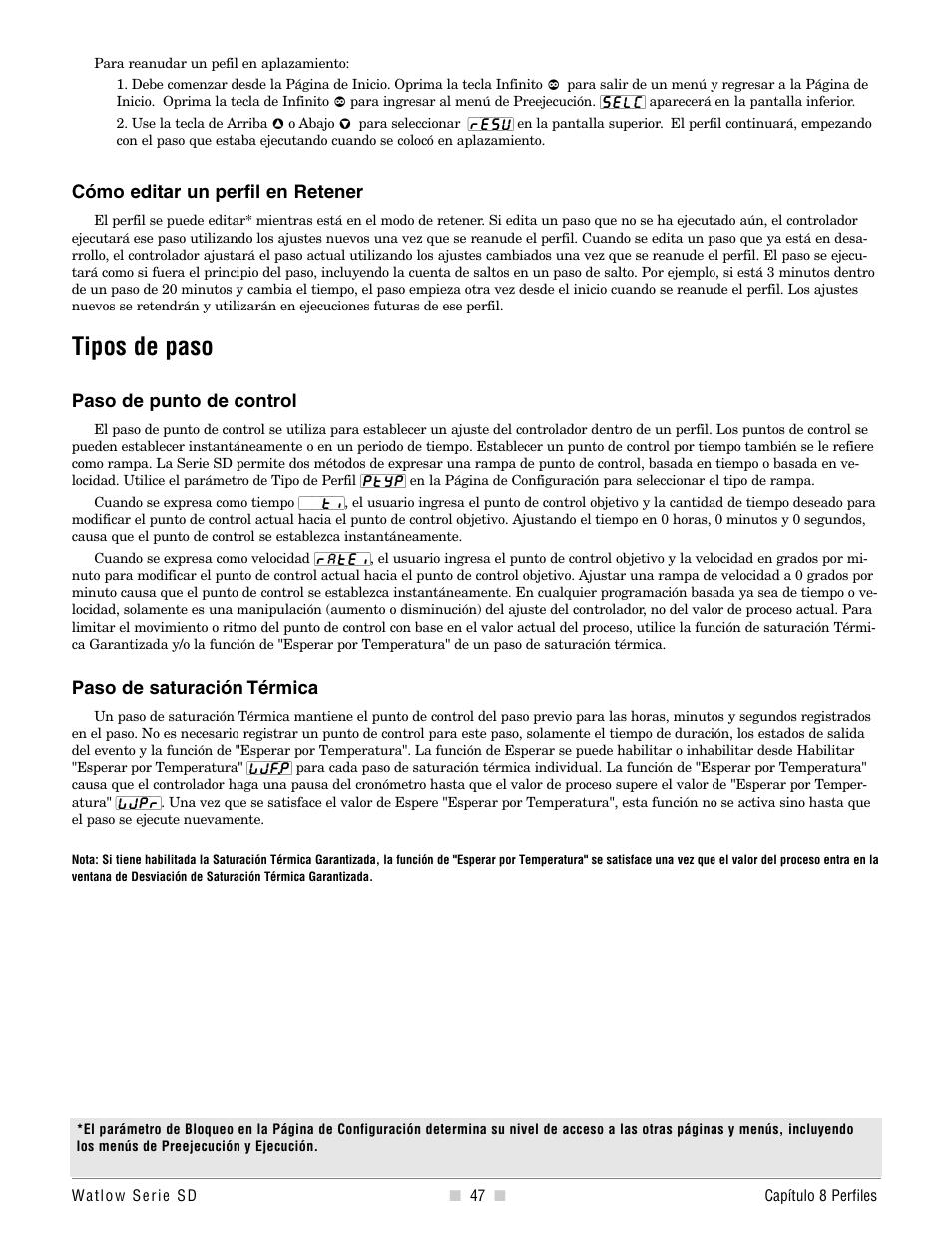 Tipos de paso | Watlow Series SD PID-Regler und PID ...