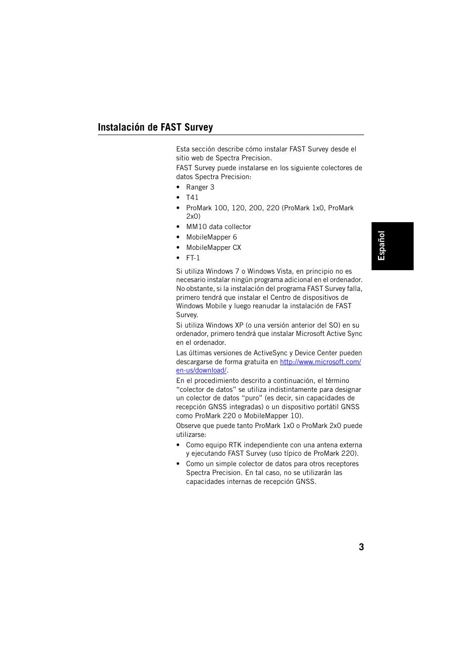 Instalación de fast survey   Spectra Precision FAST Survey Manual ...