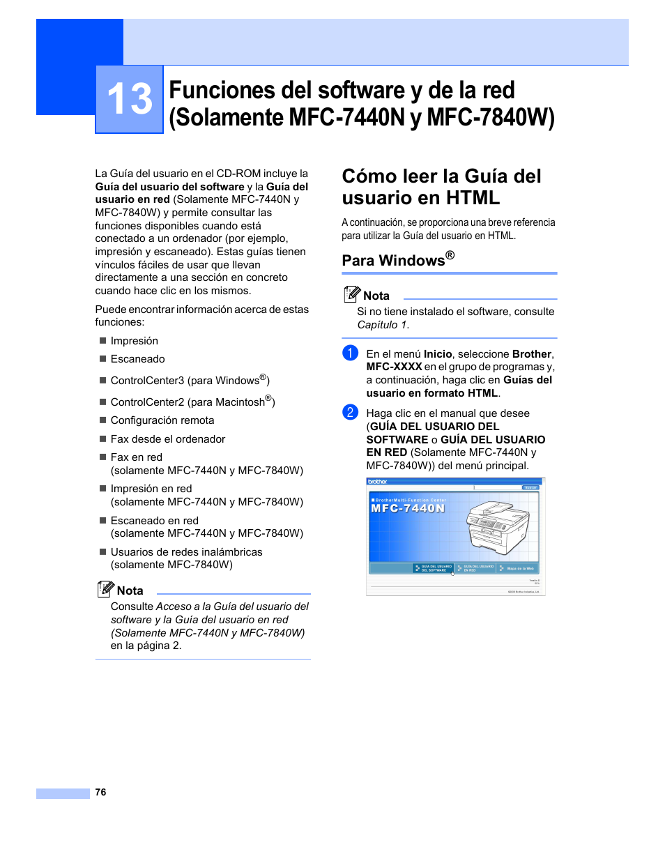 Cómo leer la guía del usuario en html, Para windows, Funciones del software  y