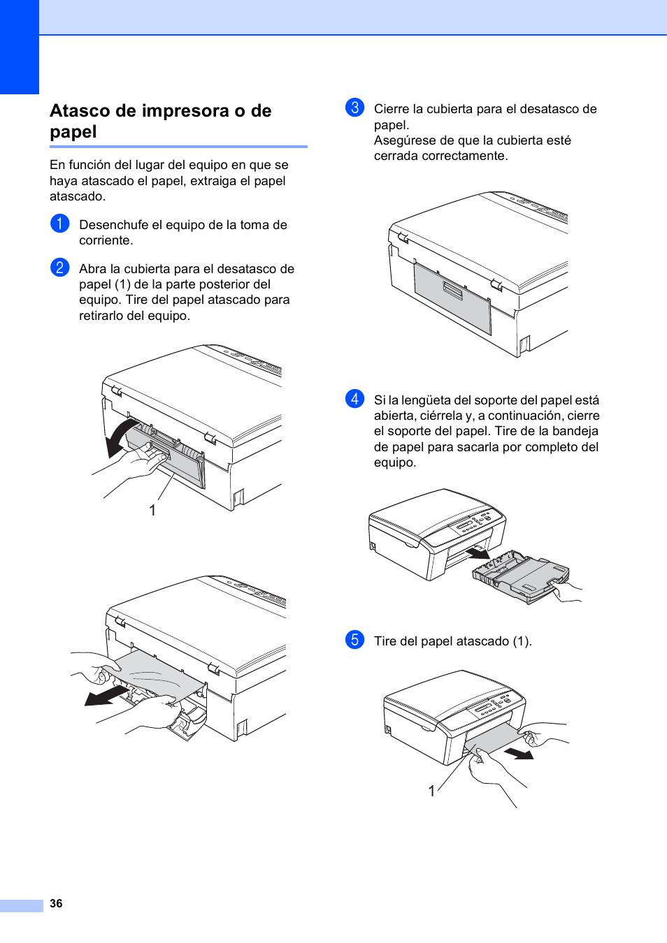 atasco de impresora o de papel brother dcp j140w manual del rh pdfmanuales com manual de impresora brother dcp-j140w