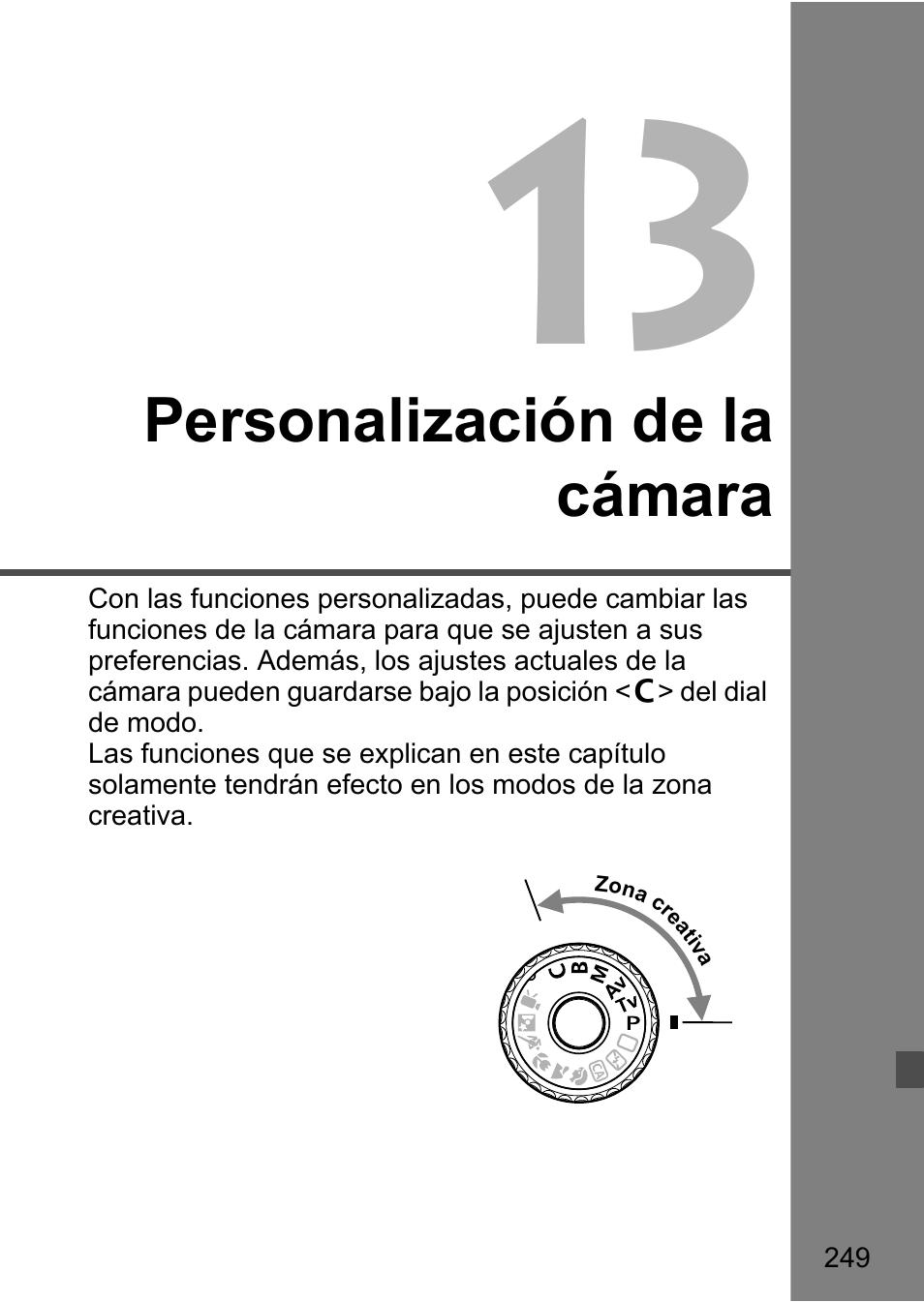 Personalización de la cámara   Canon EOS 60D Manual del usuario   Página  249 / 320