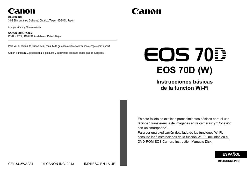 Canon EOS 70D Manual del usuario | Páginas: 32