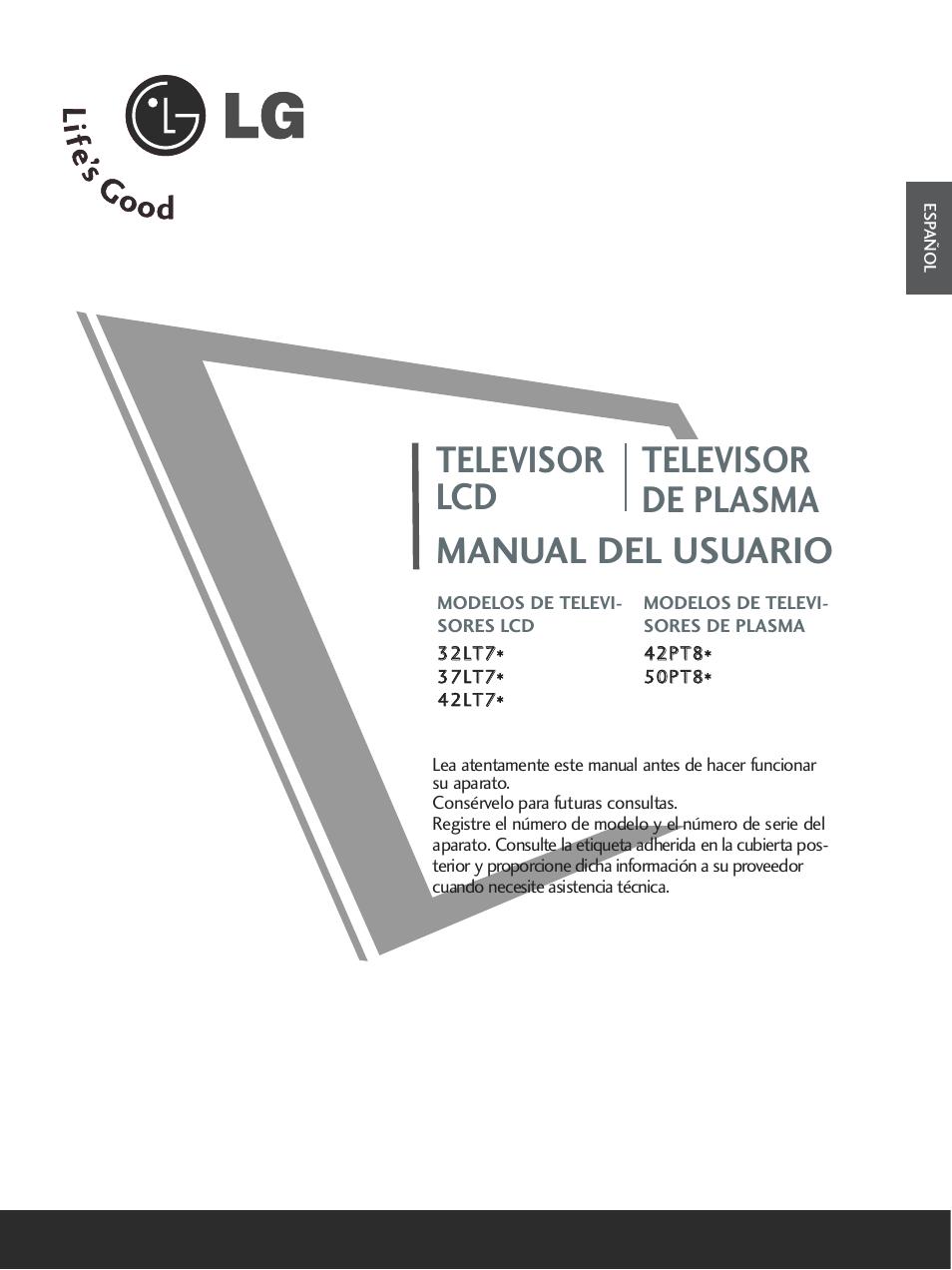 lg 32lt75 manual del usuario p ginas 120 tambi n para 37lt75 rh pdfmanuales com manual de instrucciones tv lg 42 manual de instrucciones tv lg 42