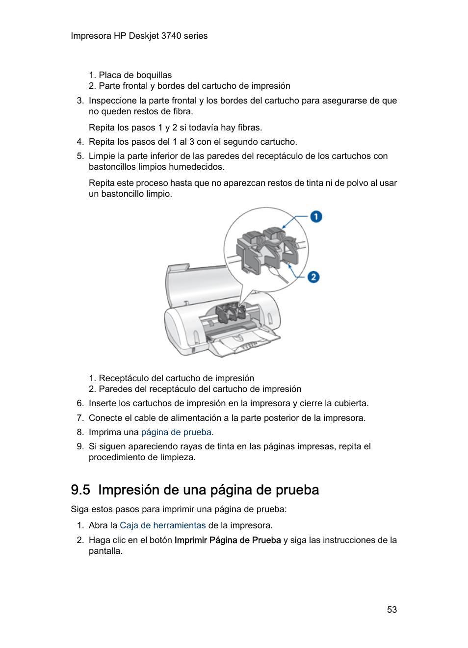 Increíble Página De Prueba De La Impresora 6 Colores Ornamento ...