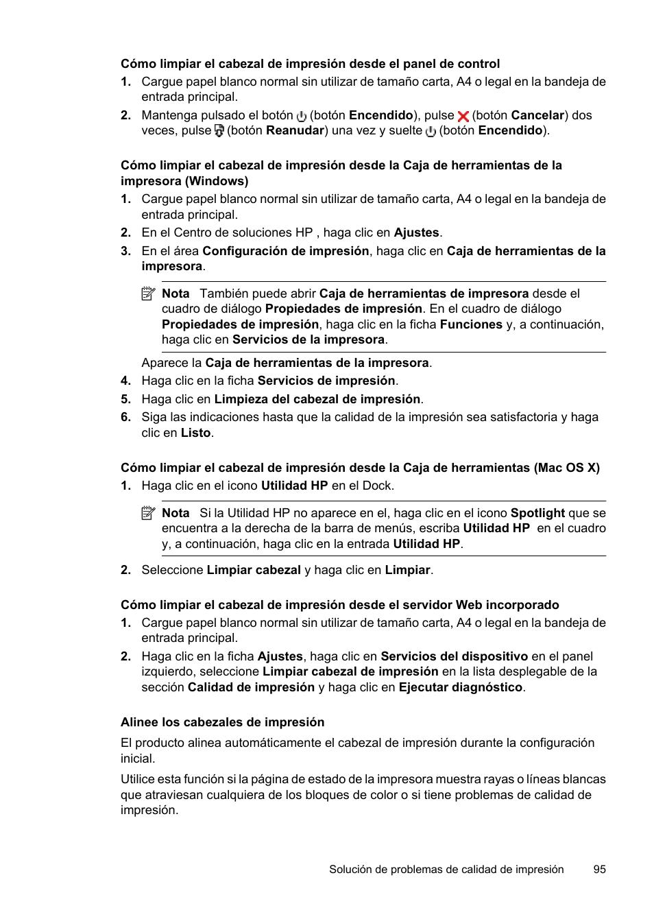 Alinee los cabezales de impresión | HP Impresora HP Officejet 7000 ...