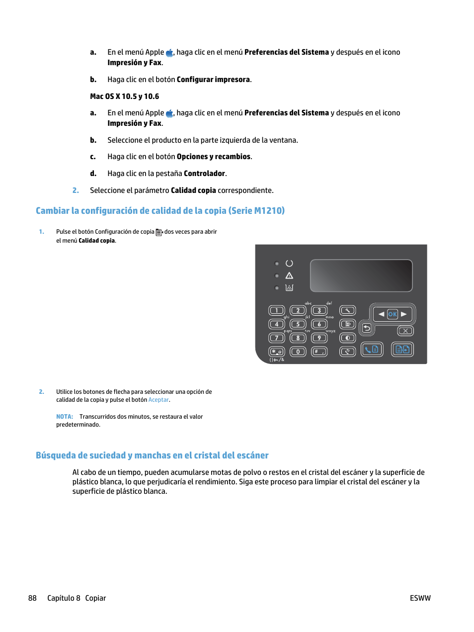HP laserjet m1212nf Manual del usuario | Página 102 / 288