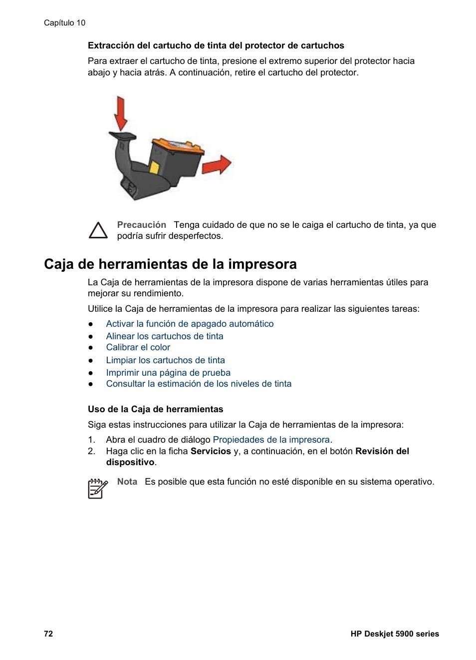 Caja de herramientas de la impresora, Caja de, Herramientas   HP ...
