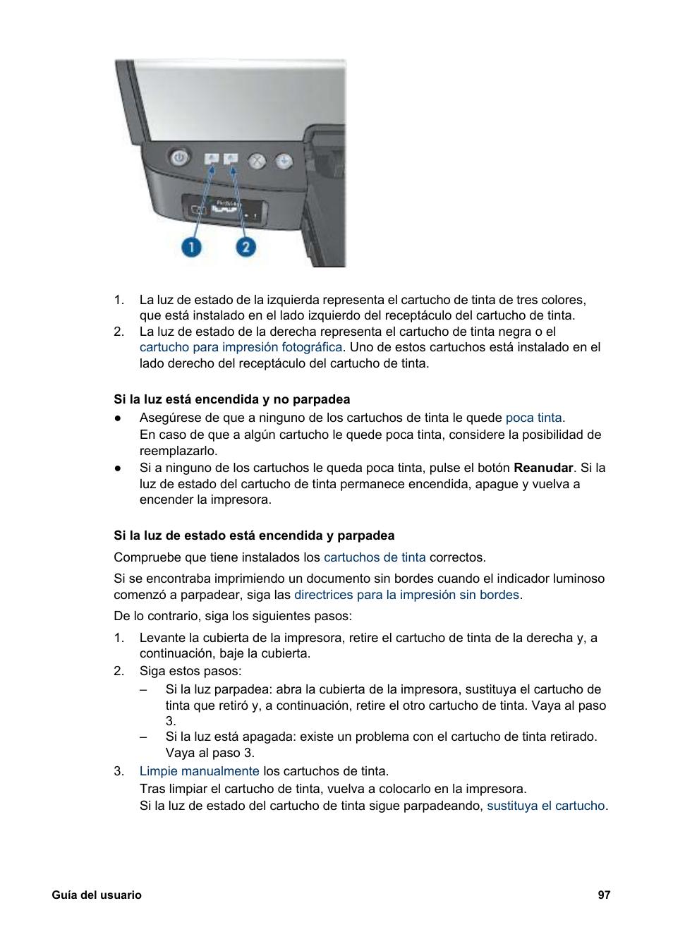 HP Impresora color de inyección de tinta HP Deskjet 5940 Manual del ...