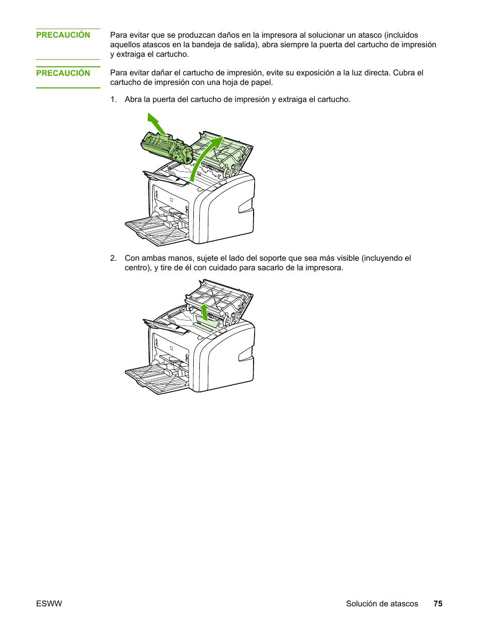 Hp laserjet 1018 manual de impresora y guía de instalación.