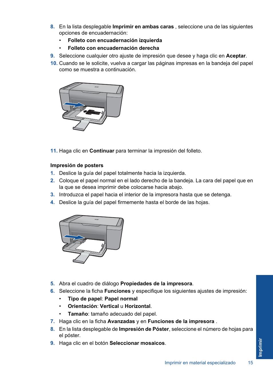HP Impresora Todo-en-Uno HP Deskjet F2480 Manual del usuario ...