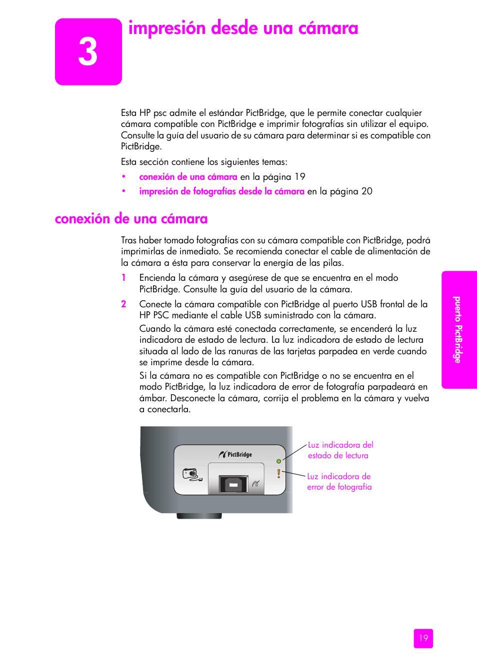 impresi n desde una c mara conexi n de una c mara hp impresora rh pdfmanuales com HP PSC 1200 Series manual impresora hp psc 1315