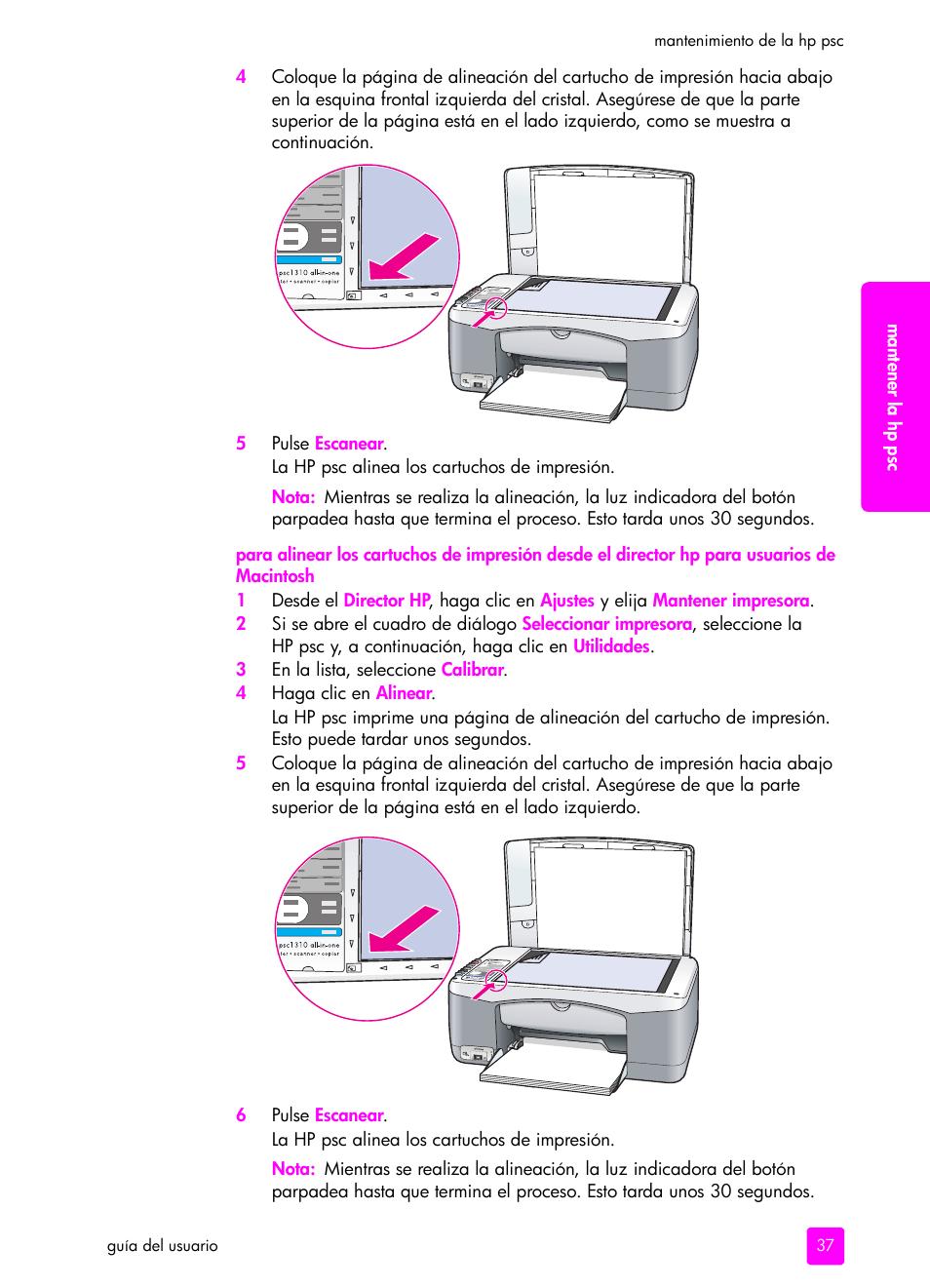 hp impresora todo en uno hp psc 1315 manual del usuario p gina 45 rh pdfmanuales com HP PSC 1315 Printer Install HP PSC 1200 Series