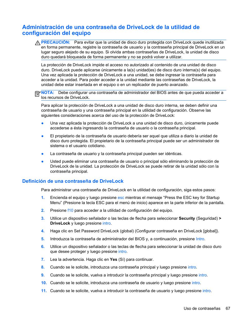 definici n de una contrase a de drivelock hp estaci n de trabajo rh pdfmanuales com manual de usuario web definicion manual de usuario definicion informatica