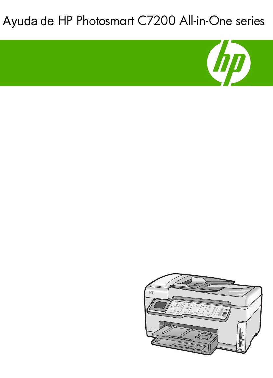 HP Photosmart C7280 Manual del usuario   Páginas: 332   También para:  Photosmart C7200 Series