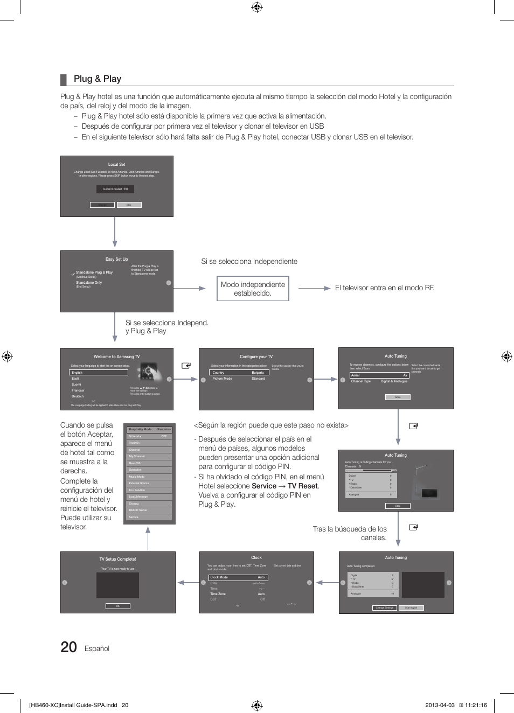 Plug & play, Español | Samsung HG32EB460GW Manual del