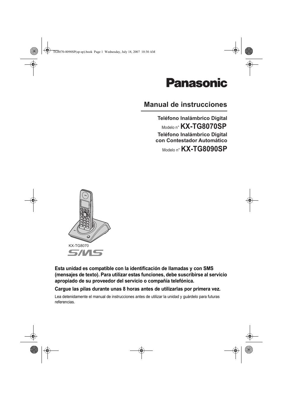 Panasonic KXTG8090SP Manual del usuario | Páginas: 40 | También para:  KXTG8070SP