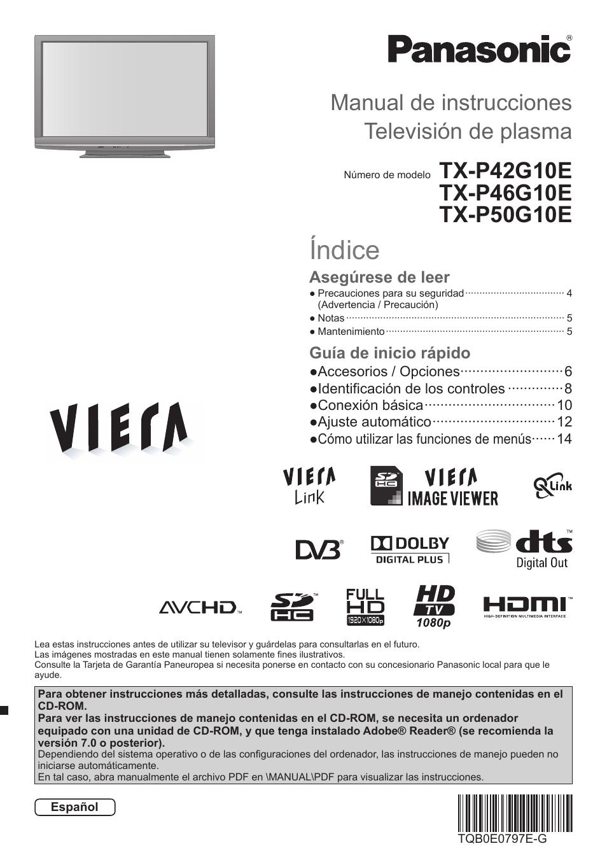 manual instrucciones televisor panasonic viera