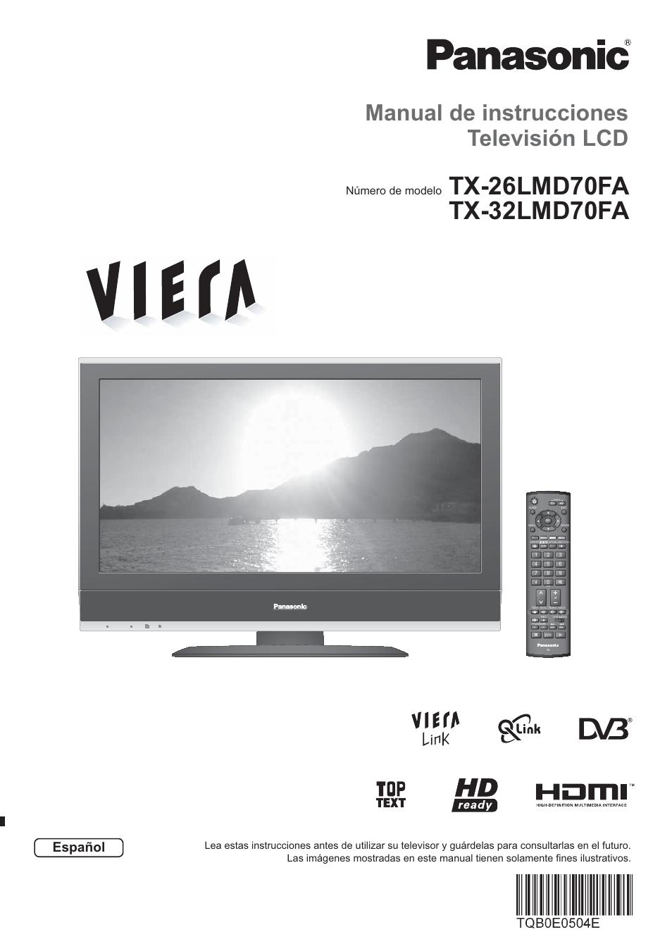 panasonic tx32lmd70fa manual del usuario p ginas 44 rh pdfmanuales com Panasonic Viera Back Panel Panasonic Viera TV Troubleshooting