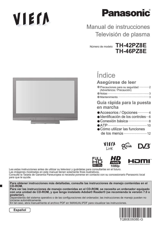 panasonic th42pz8e manual del usuario p ginas 16 tambi n para rh pdfmanuales com Una De Gato Una De Gato