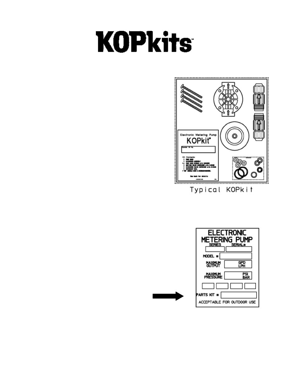 Seleccionando un kopkit | Pulsafeeder PULSAtron Series MP ES