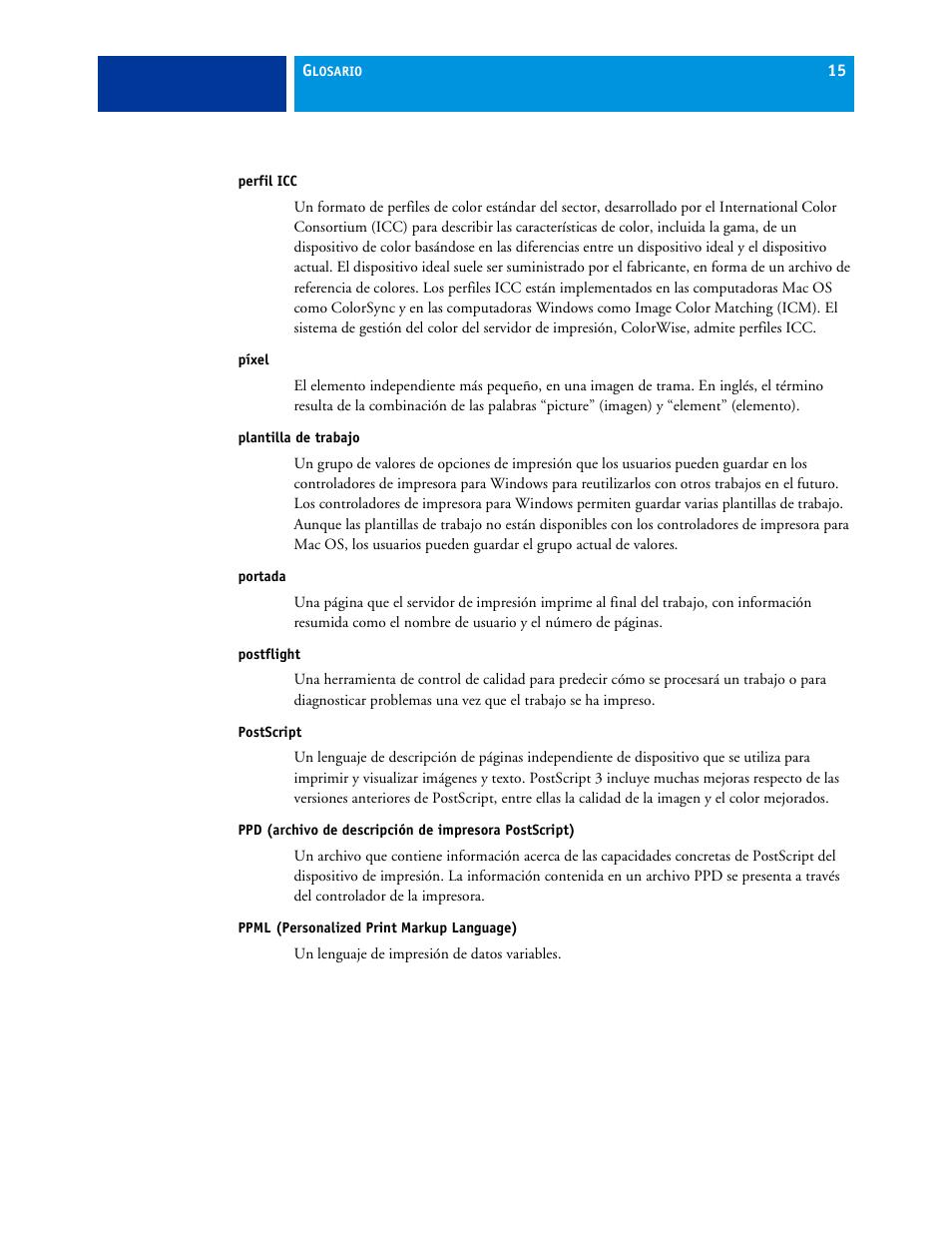 Perfil icc, Píxel, Plantilla de trabajo | Xerox Impresora de color ...