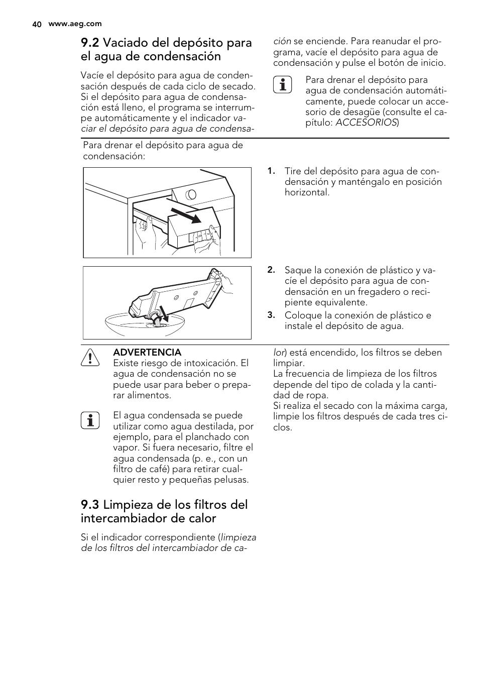 AEG T75280AC Manual del usuario | Página 40 / 48 | Original
