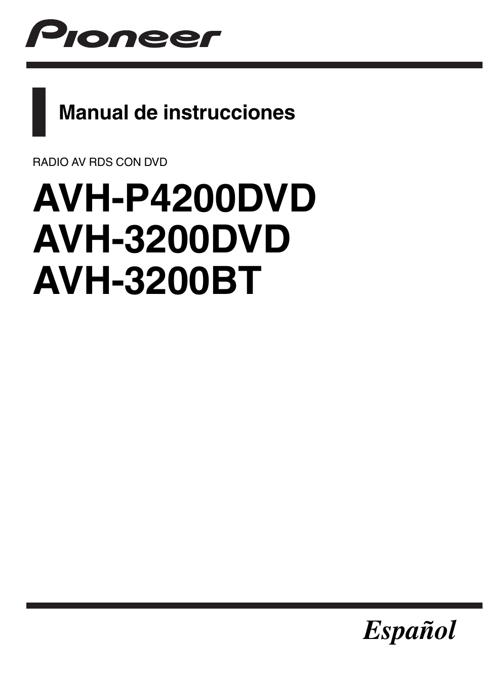 Wiring Diagram For Pioneer Avh X3500bhs : Pioneer avh p dvd wiring diagram bhs