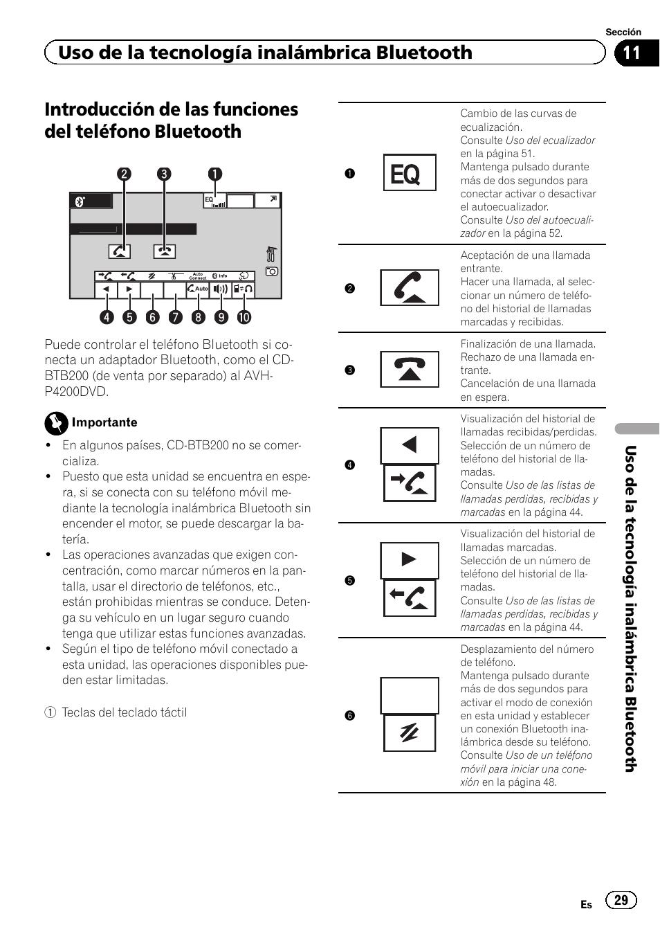 Bluetooth Uso De La Tecnologa Inalmbrica Text Scroll Avh 3200bt Pioneer Manual Del Usuario Pgina 29 104