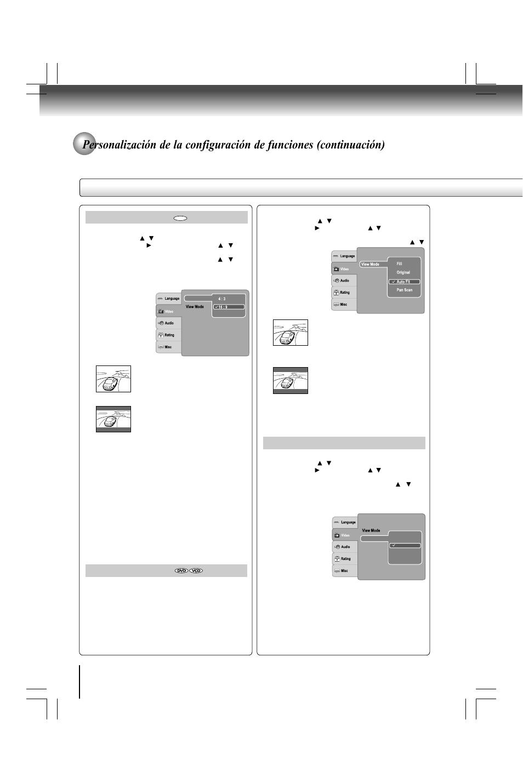 Sistema de tv, Formato de imagen, Modo visualización | Toshiba ...