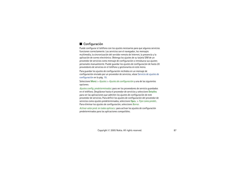 configuraci n v ase en la p nokia 6020 manual del usuario rh pdfmanuales com nokia 6020 manual pdf nokia 6020 service manual