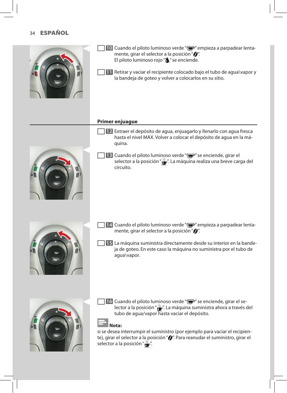 Philips Saeco Xsmall Cafetera expreso súper automática Manual del ...