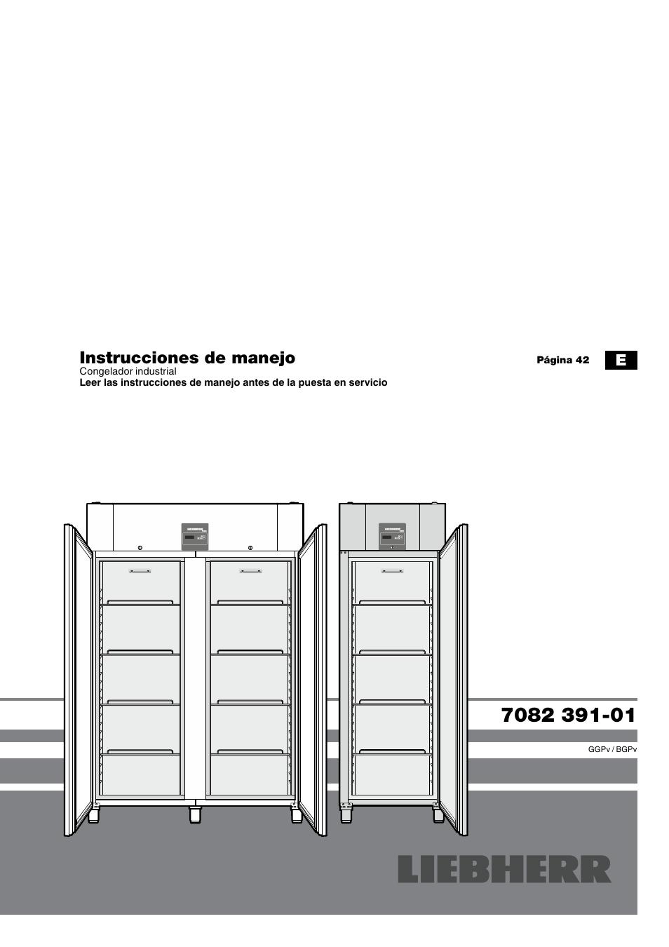 Liebherr GGPv 1470 ProfiLine Manual del usuario | Páginas: 9 | También  para: GGPv 6570 ProfiLine