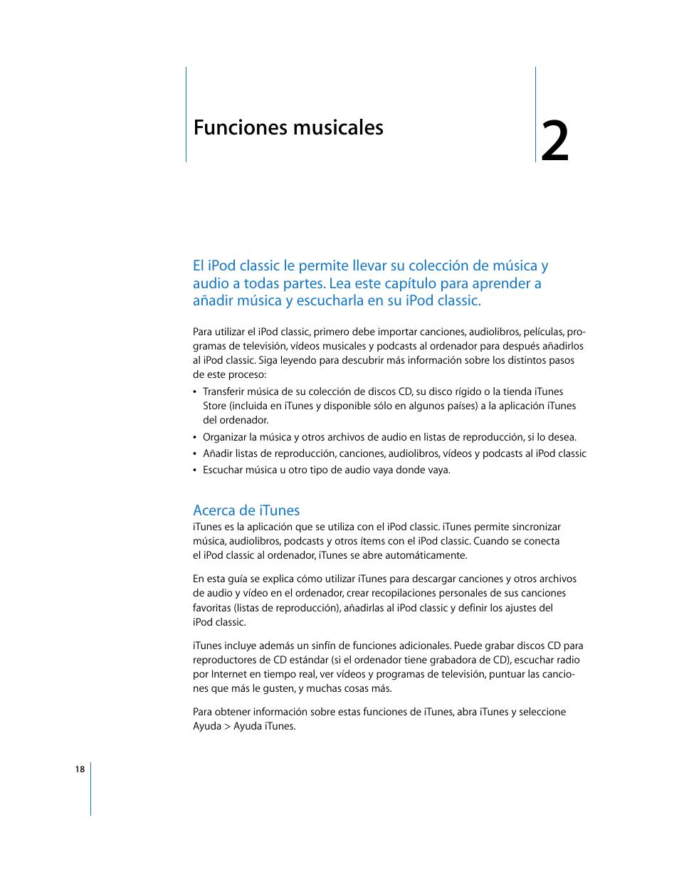 Funciones musicales, Acerca de itunes, Capítulo 2 | Apple