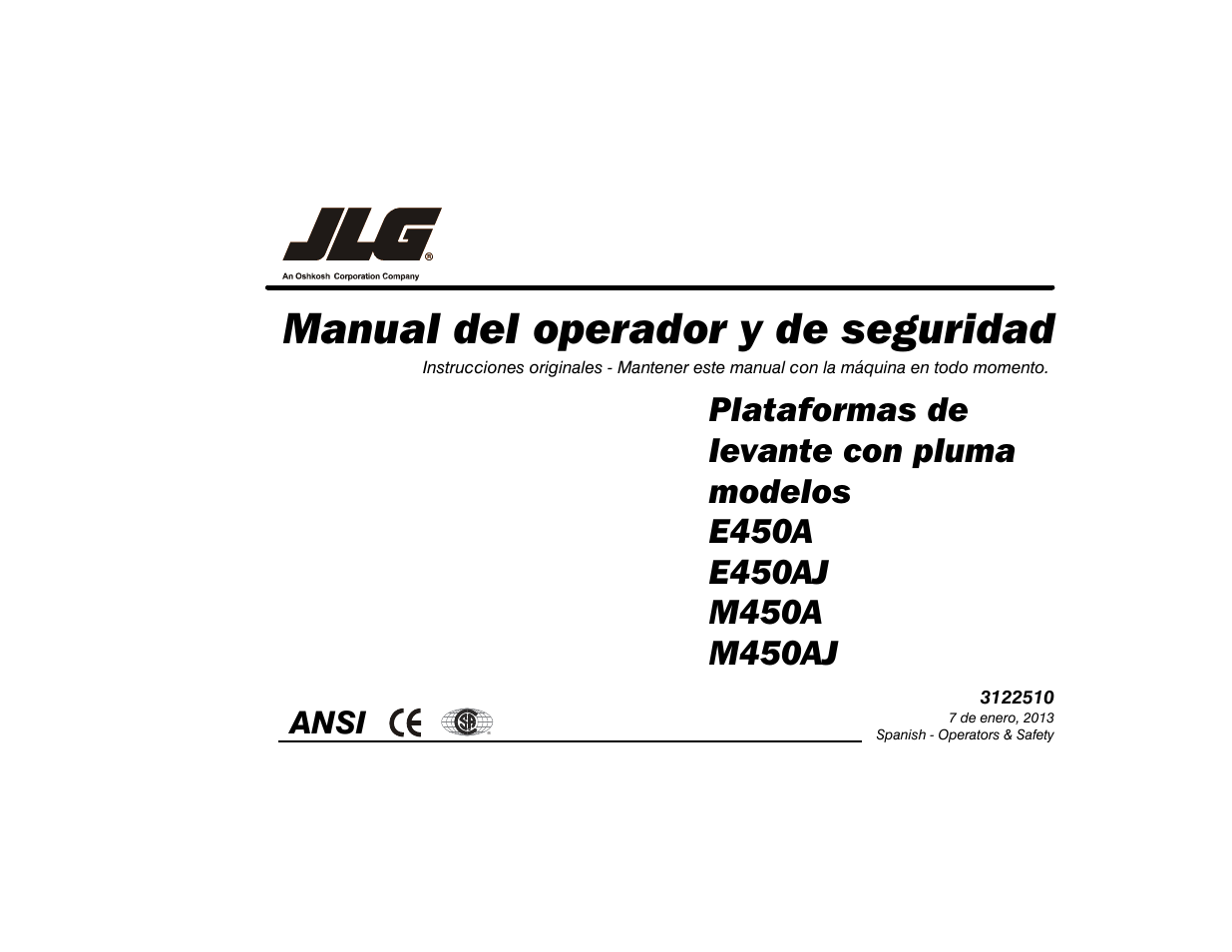 jlg m450 operator manual manual del usuario p u00e1ginas 120 JLG 40H Wiring -Diagram JLG 400S Wiring -Diagram