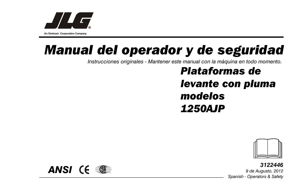 jlg 1250ajp operator manual manual del usuario p ginas 124 rh pdfmanuales com JLG 1250AJP Hight JLG Lift
