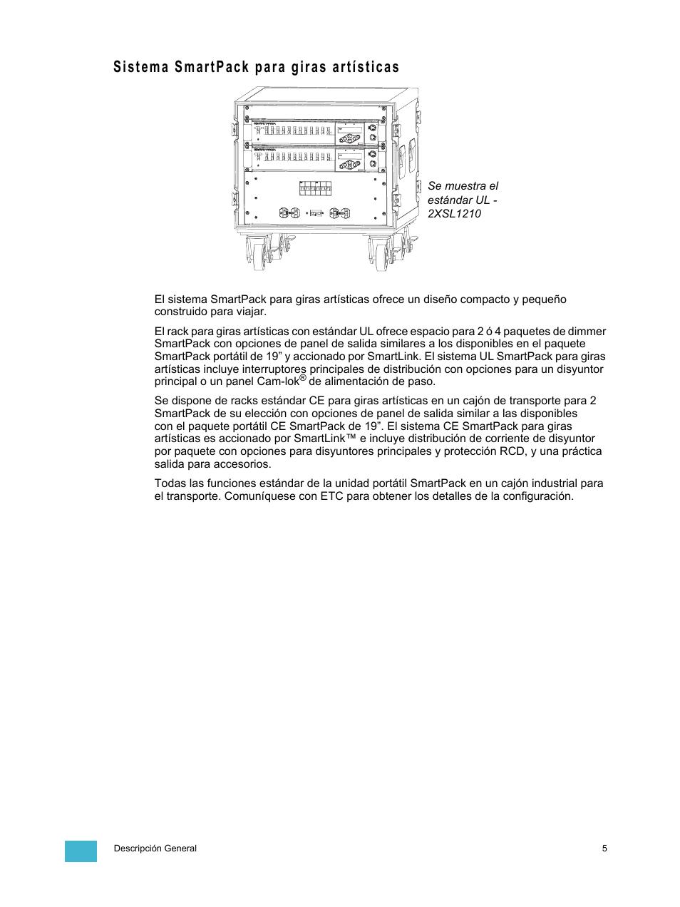 Sistema smartpack para giras artísticas | ETC SmartPack v2 0