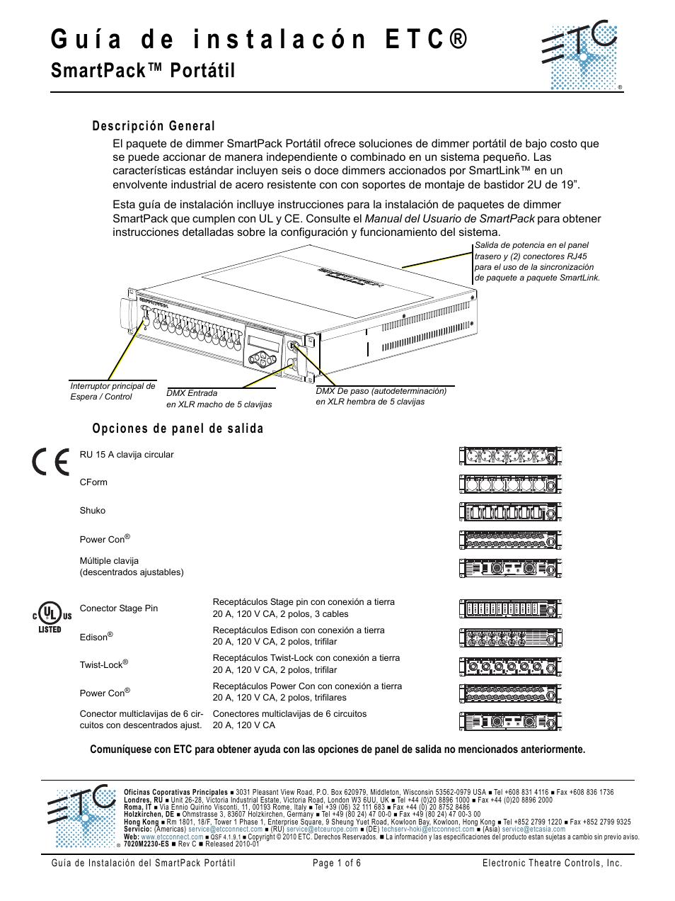 ETC SmartPack Portable Manual del usuario | Páginas: 6