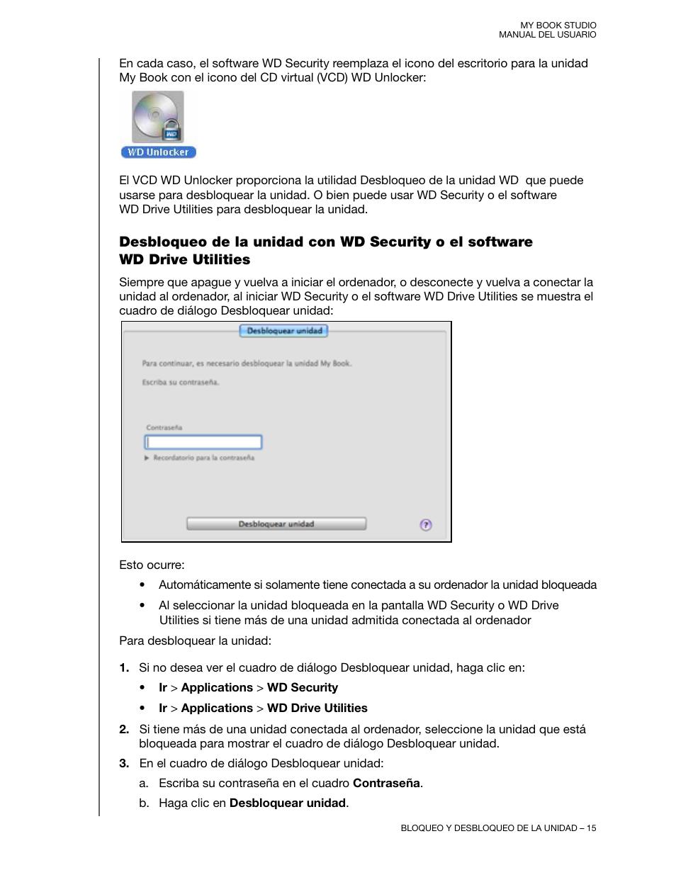 Western Digital My Book Studio (USB 3 0) User Manual Manual del