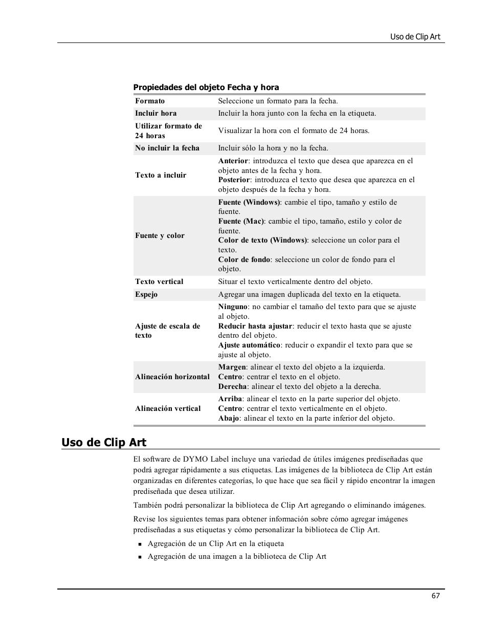 Uso de clip art | Dymo LabelWriter 450 Turbo Software Manual Manual del  usuario | Página
