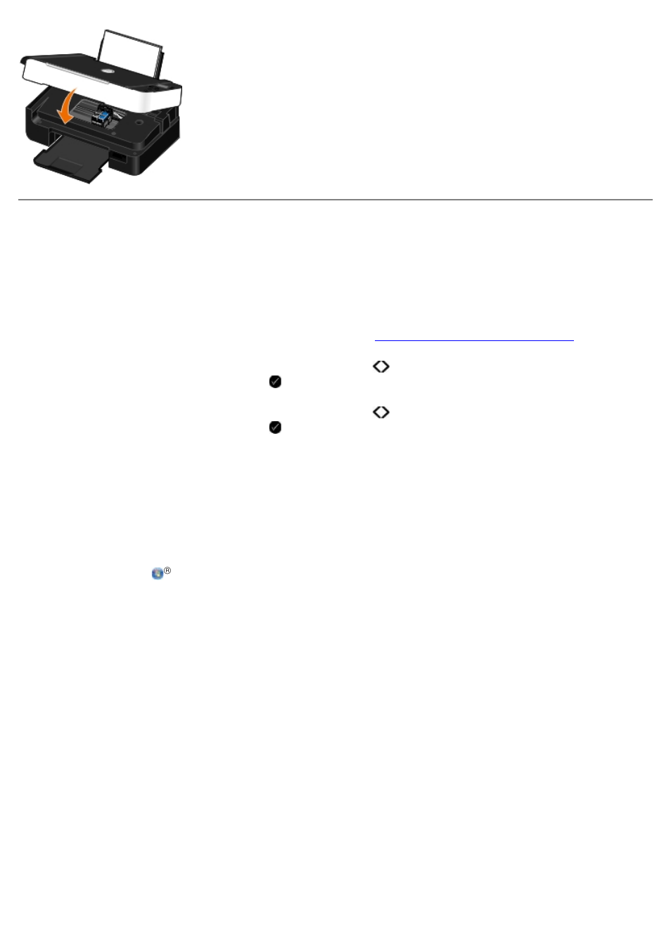 Alineación de los cartuchos de tinta | Dell V305 All In One Inkjet Printer  Manual del