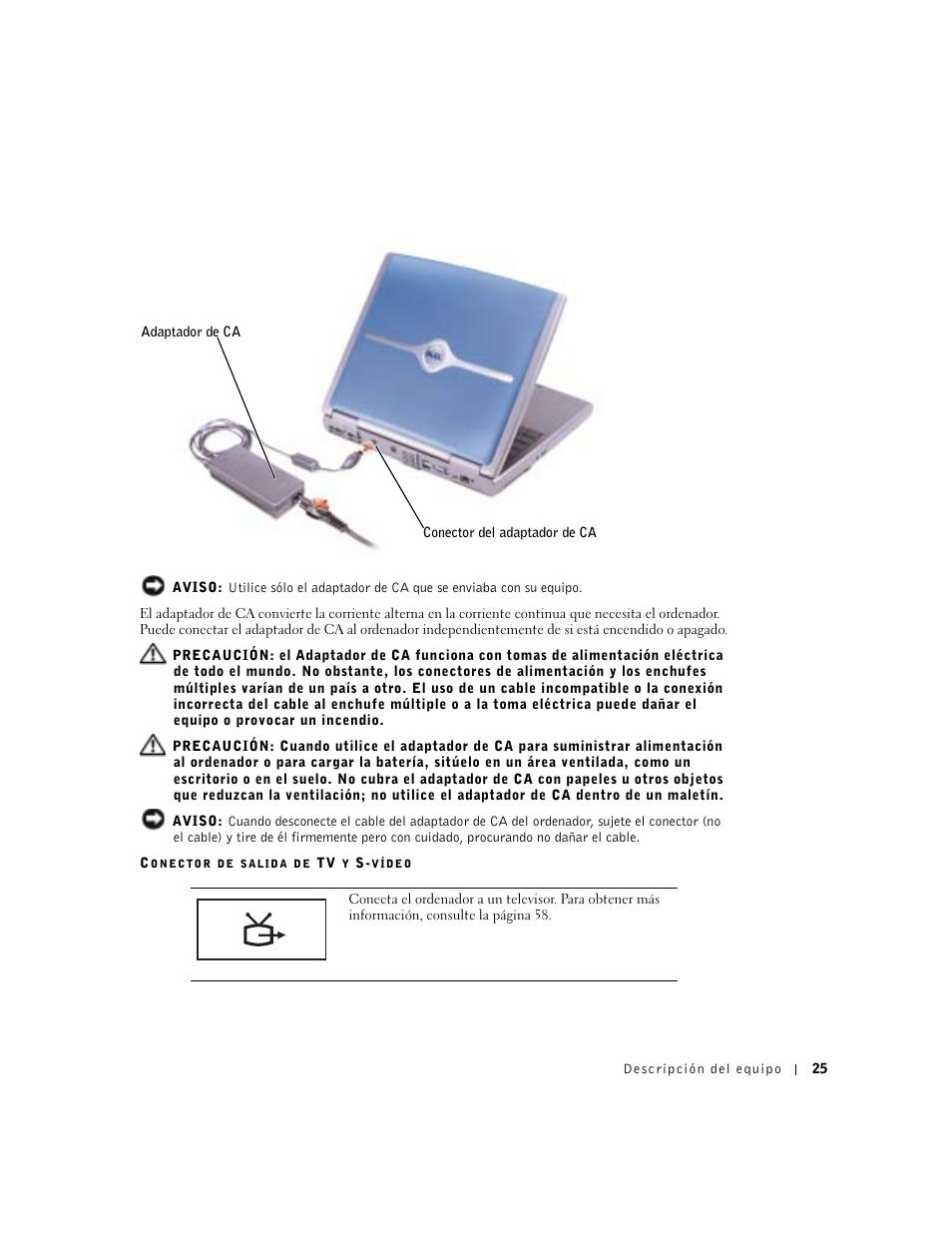 dell inspiron 5100 manual del usuario p gina 25 154 original rh pdfmanuales com dell inspiron 5100 manual pdf Dell Inspiron 5100 Charger
