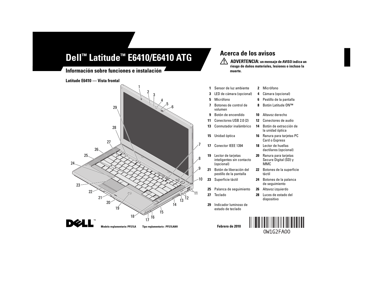 dell latitude e6410 manual del usuario p ginas 8 tambi n para rh pdfmanuales com dell latitude e6400 manual pdf dell latitude e6400 manual download