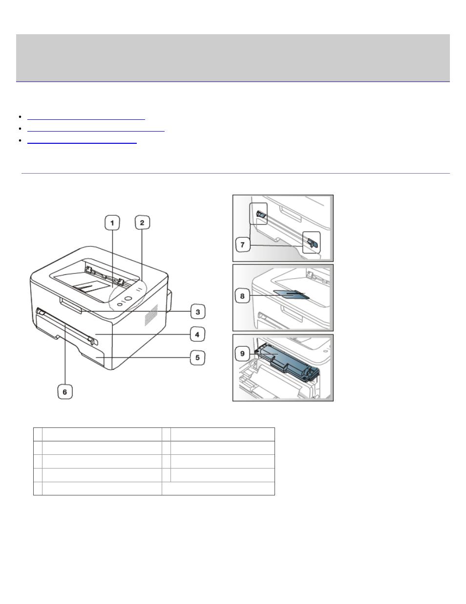 Introducción, Descripción general del dispositivo, Vista frontal   Vista  posterior   Dell 1130 Laser